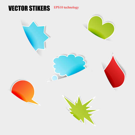 Cut stickers. Stock Vector - 16876824