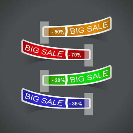 set of color sale tags. Vector