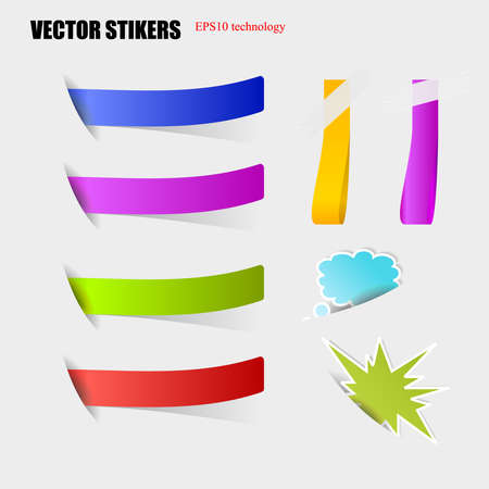 Cut stickers. Stock Vector - 16876826