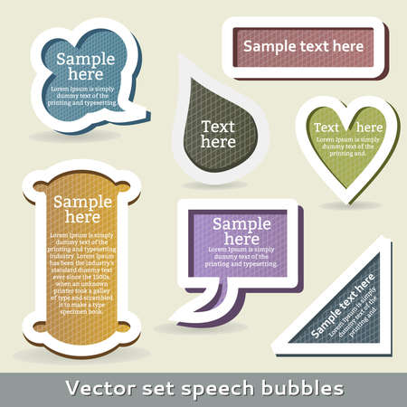 Speech bubbles. Modern Design. Vector