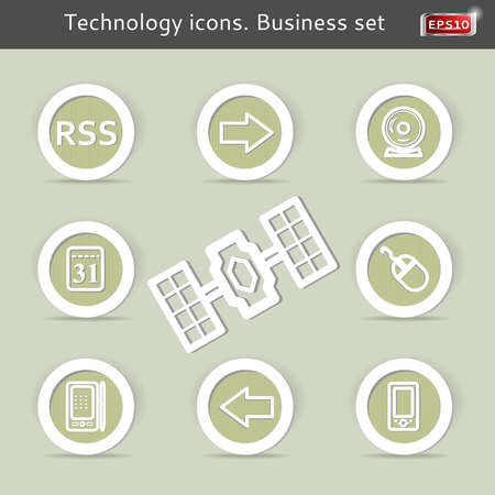 Technology icons. Business set. Vector