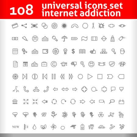 Universal Icons Set.   Illustration