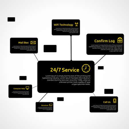 Infografik Vorlage. Business Telekommunikationstechnik. Reinigen Hintergrund. Standard-Bild - 16876896
