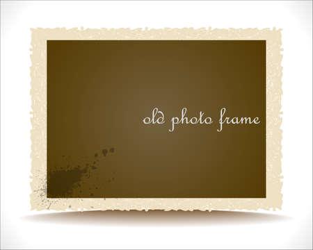 Old Photo Frame.   Illustration