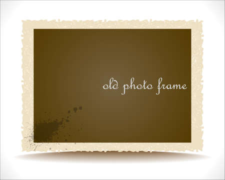 frame photo: Old Photo Frame.   Illustration