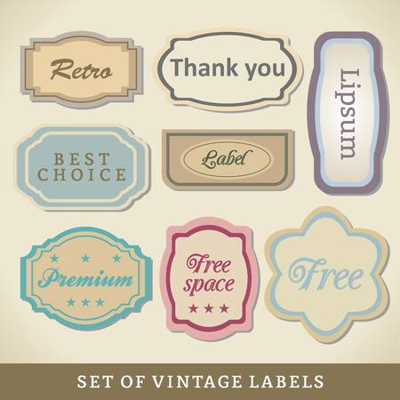 Blank Vintage Design Cards.  Abstract Frames. Vector