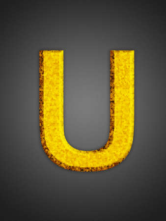 Beautiful abstract party symbol. Yellow glowing font. Stock Photo - 16876887