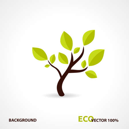 Eco Tech Logo. Ecology Design Background. Illustration