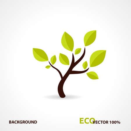 Eco Tech Logo. Ecology Design Hintergrund. Standard-Bild - 17182421