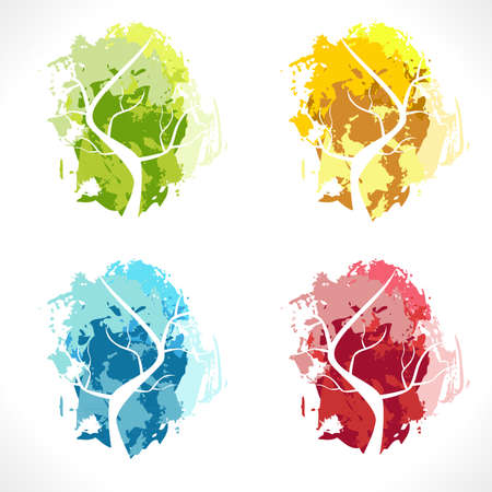 Abstract tree. Color Illustration. Vector