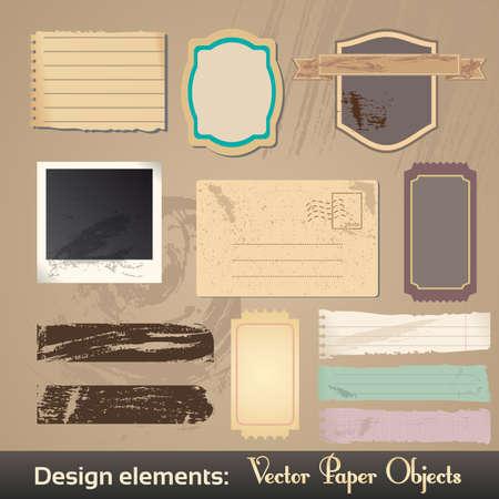 Vintage Labels. Grunge Design Elements. Stock Vector - 17182518
