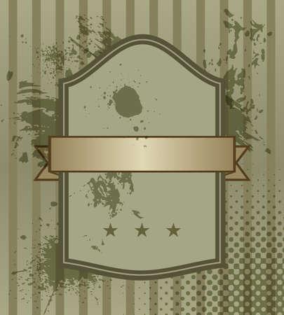 Vintage Banner. Grunge Invitation Label. Stock Vector - 17182456