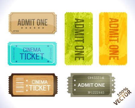 Admit one  Different Stickers  design