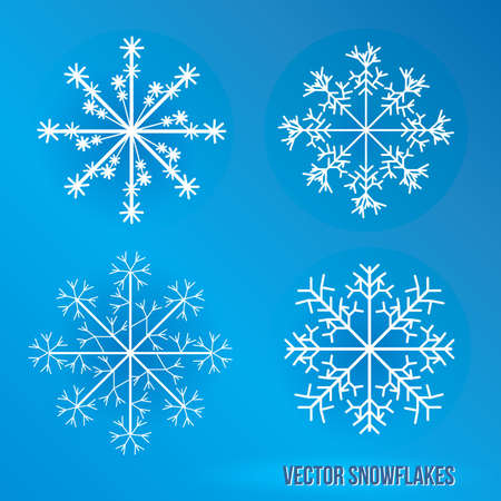 Snowflakes  Icy Illustration  Stock Vector - 17182536
