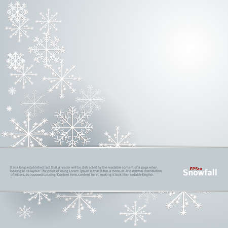 Snowfall Background  Beautiful Illustration  Stock Vector - 17178456