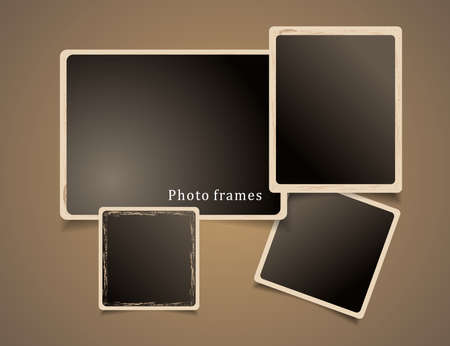 picture card: Photo Frames Design  Vintage illustration  Illustration