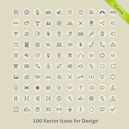Icons for Design   Vector