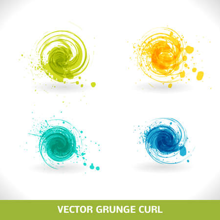 circle pattern: Grunge Curl  Vector Abstract Symbol