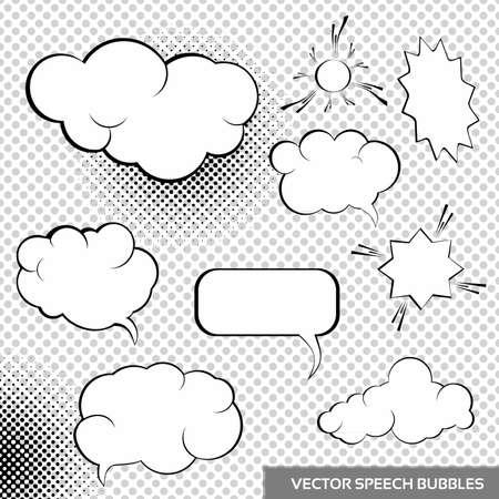 Speesh Design Elements Comic bubbles collection Standard-Bild - 17182549