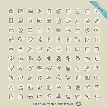Icons for Design. Symbol Collection. Stock Vector - 17584989