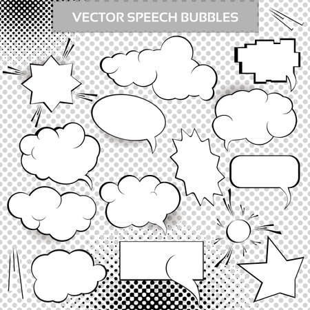 Comic Design Elements. Speech bubbles collection.