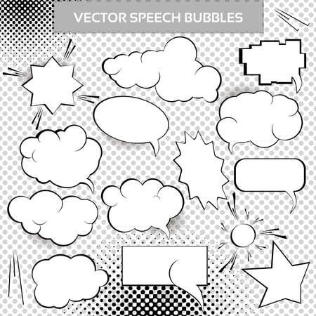 Comic Design Elements. Speech bubbles collection.