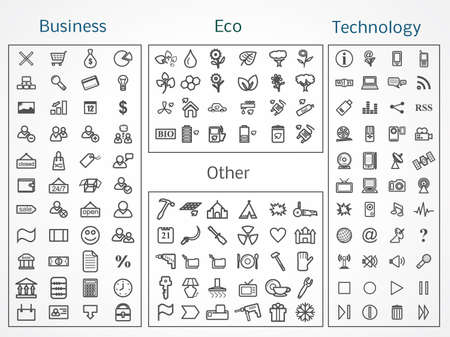 Icons Collection. Business, Eco, Technology and Other. Stock Vector - 17585068