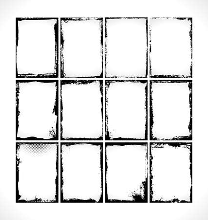 Grunge Frames Collection. Design Illusration.