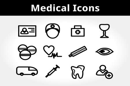 Medical Icons. Clean Aid Symbols. Stock Vector - 17584873