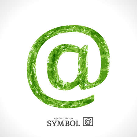 Grunge Symbol. Green Eco Style. @. Stock Vector - 17585045
