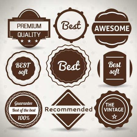 Vintage Labels. Vector Set. Grunge Badge Design. Stock Vector - 18243645