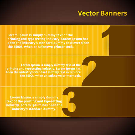 Banners set. Numbered Design Template.