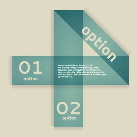 Option Banner  Web Design, Infographics  Numbers Navigation Stock Vector - 18846244