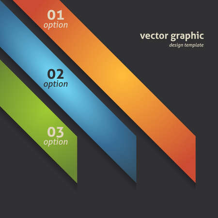 Modern Option Banner  Design Background  Vector