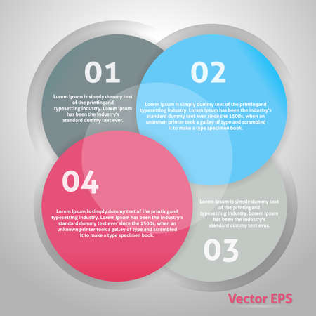 Circle Background. Design Advertise. Clean Style. Vector