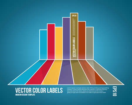 Infographic Background. Modern Business Cart Backdrop. Stock Vector - 19694117