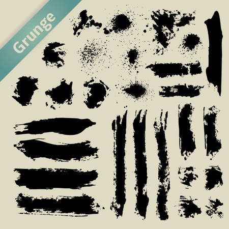 Grunge Elements. Brush and Stroke Template. Illustration