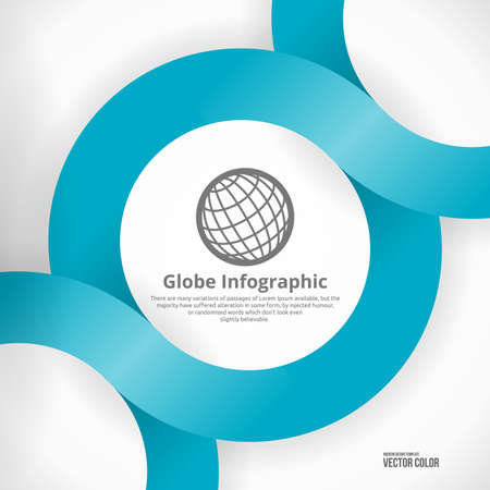 Globe Infographic Design. Clean Abstract Business Background. Modern Icon. Stock Vector - 19694082