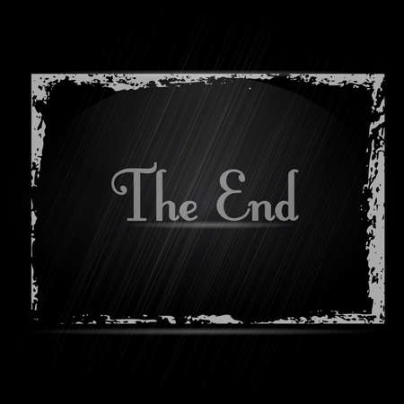 The End. Film Finish Background. Grunge Design Backdrop.