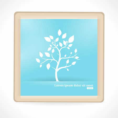 artboard: Abstract Tree. Artboard. Blue and white. Illustration