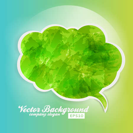 Watercolor Speech Bubble Background. Vector Design Template. Grunge.