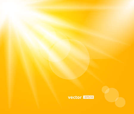Sunny Day. Sunrays Vector Design Background.