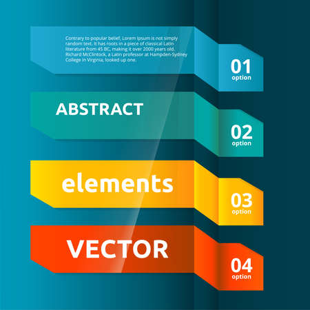 Color Web Banners Set  Infographic Design Template  Vector