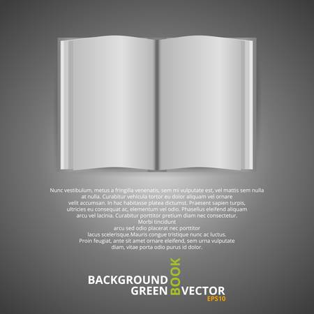 Open Magazine  White Book Page  Vector Illustration