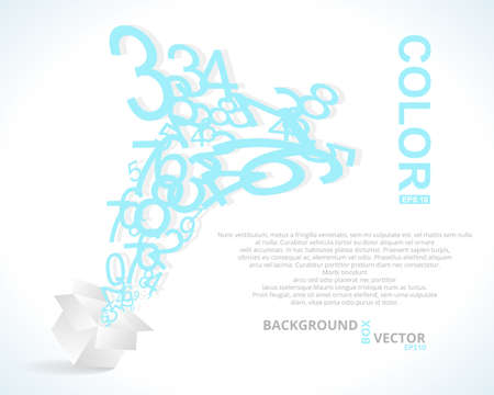 Number Box  Vector Design Background