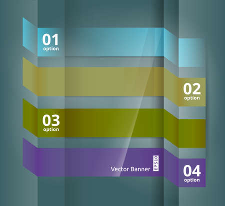 Vector Web Option Banners  Infographic Design Template