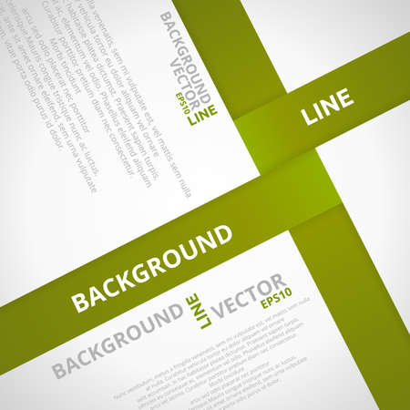 Green Line Vector Background  Business Design Template