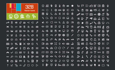 Icons Set  Business symbols, Eco symbols, Flower symbols, Office symbols,Medical symbols and others  Stock Vector - 20929400