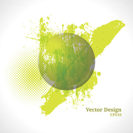 Green Grunge Background  Vector Ball Illustration
