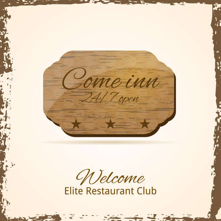 Come Inn  Vintage Banner  Vector Illusration  Illustration